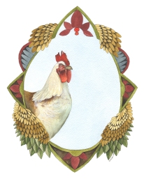 Quilted Forest // Charles the Chicken